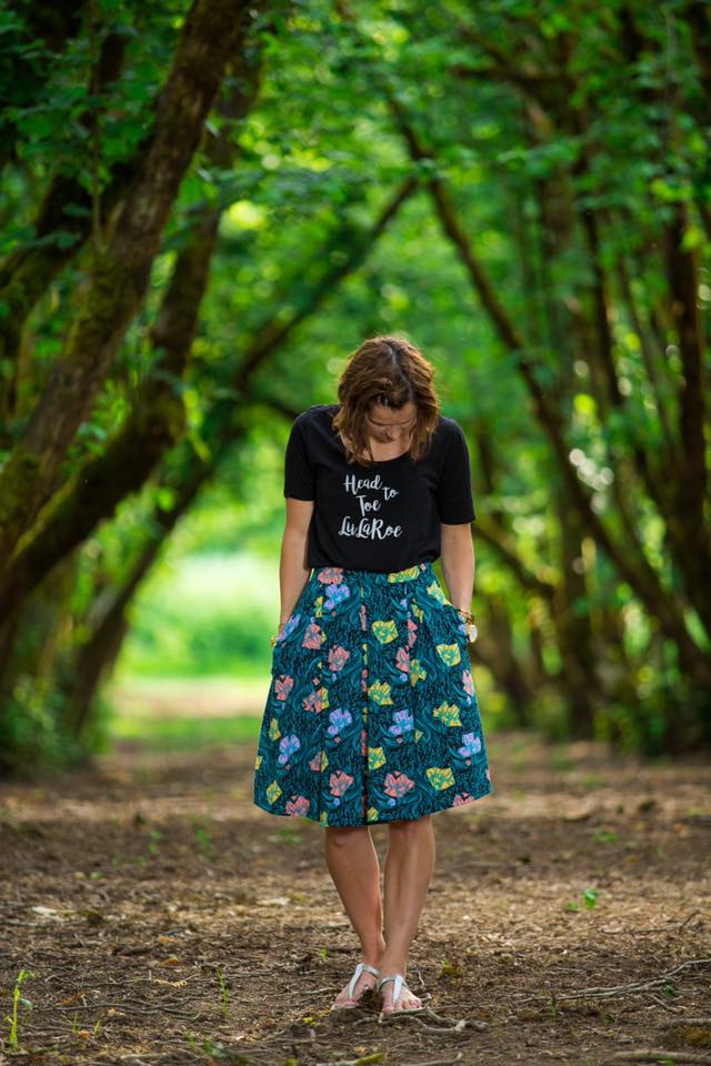 Katie Cave - Hello from Eugene, Oregon! I am Katie and I have been with LuLaRoe since February of 2016. I'm a mom of two spunky little girls, ages 7 and 5, and a wife to my marathoning husband of almost 10 years. My husband is an attorney who, because of LuLaRoe, decided to return to his love of teaching. We both coach at one of our local high schools (he coaches baseball and I'm the women's soccer coach) and we love that our girls are getting into running with us - our oldest ran her first 5k when she was only 4 and a half years old!A couple of years ago, I ran my first ultra marathon and felt a sense of accomplishment that I had never experienced before, even through all of my years in sports and being a college athlete. A few months later, however, my youngest daughter and I were in a car accident. A man on his phone ran a red light and t-boned us. While we both walked away, and my daughter's carseat did it's job and she had no lasting issues, I was left unable to run for over a year. It changed my life - I went from running 50 miles a week to not running at all. It effected my self-esteem, my body image, my emotional health, my relationships, and really my whole life. I was no longer comfortable in my own clothes and I didn't enjoy getting up in the morning. Fast forward to my introduction to LuLaRoe. These clothes are not just clothes. They brought back a sense of comfort to me, a different way to express myself, and they also brought some of the most amazing relationships along with them. I fell in love first with the Julia dress and the Cassie skirt and my collection grew quickly. I felt empowered and slowly started gaining my confidence back. I have been back at running for a few months now, but LuLaRoe helped to bridge that gap for me. I now not only run a successful business, but I also get to help other women feel beautiful and I get to help them reach their goals.I am a leader in LuLaRoe and have been a trainer in the company since September of 2016. I now have a large team under me, including two more trainers, and I am working to build up everyone around me. I love helping my teammates see the kind of successes that they are hoping for our of their businesses. Before LuLaRoe, I had done multiple other direct sales businesses. And while some of them were great companies (and I still use their products), LuLaRoe really fits my lifestyle and gives me the return that I was hoping for. I work really hard to run my own business and to help guide my team and it pays me well for the work I put into it. This company has brought so many opportunities to my family and me and I am forever grateful and love sharing that with others.