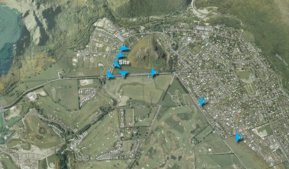 Image Locations Plan - Arrowtown