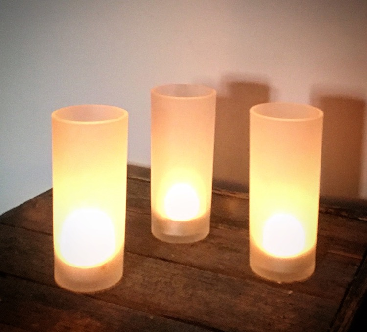 Frosted Votives  $20 for a set of 10
