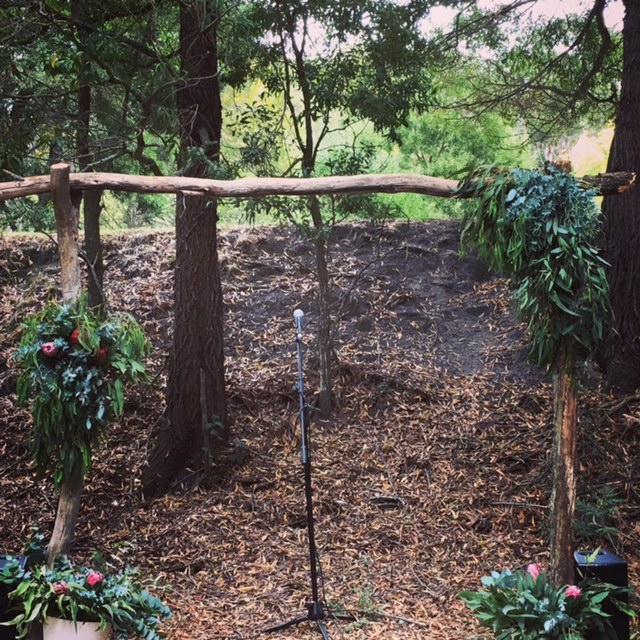 Rustic Boho Pole Arbour (flowers and foliage not included)  $120
