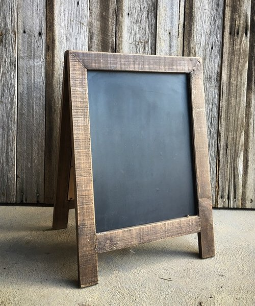 A Frame Blackboard  $10 each  Qty-2