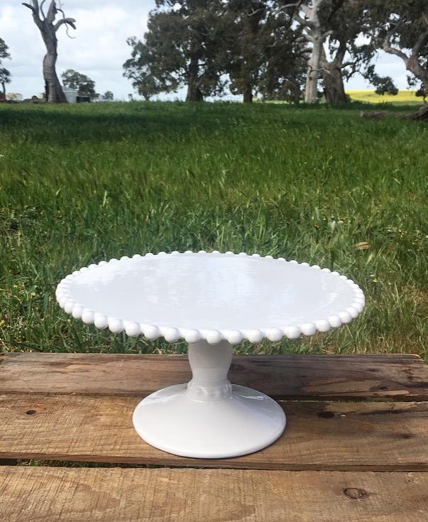 White Cake Stand  25cm x 12cm