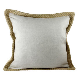 Linen with jute border