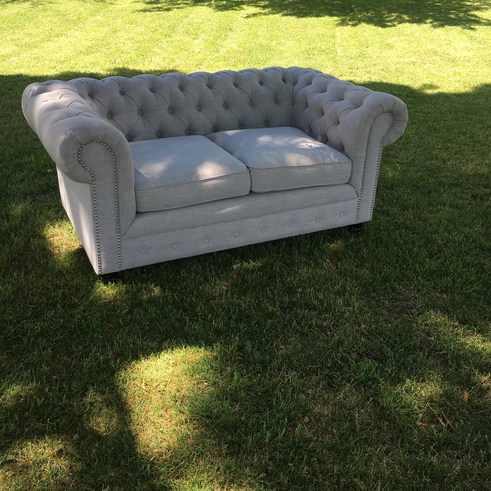 Oatmeal Chesterfield 2 Seater
