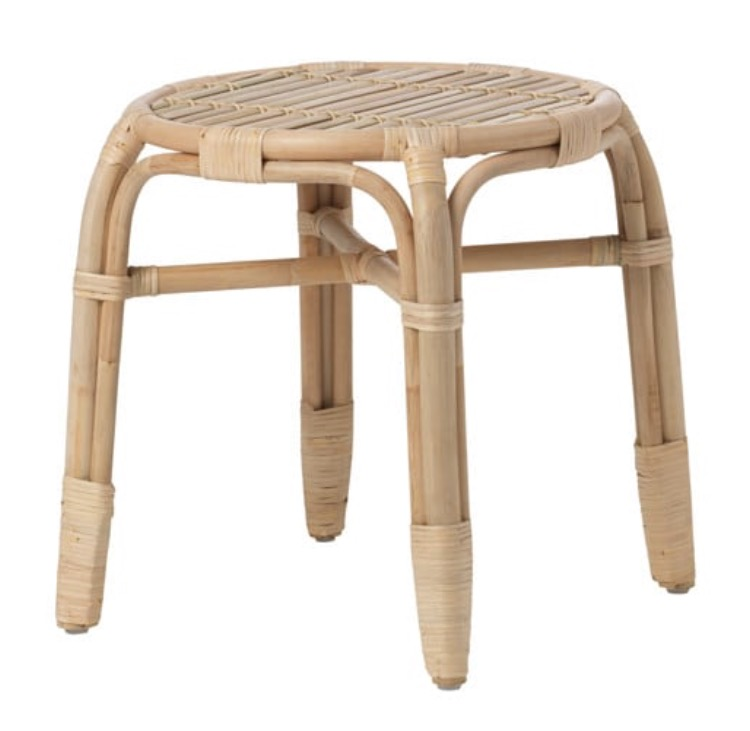 Cane Side Table  H 45cm x 42cm square  $20  Qty- 1
