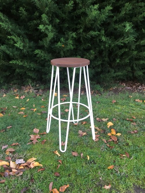 White Hairpin stool  $11 each  Qty 16