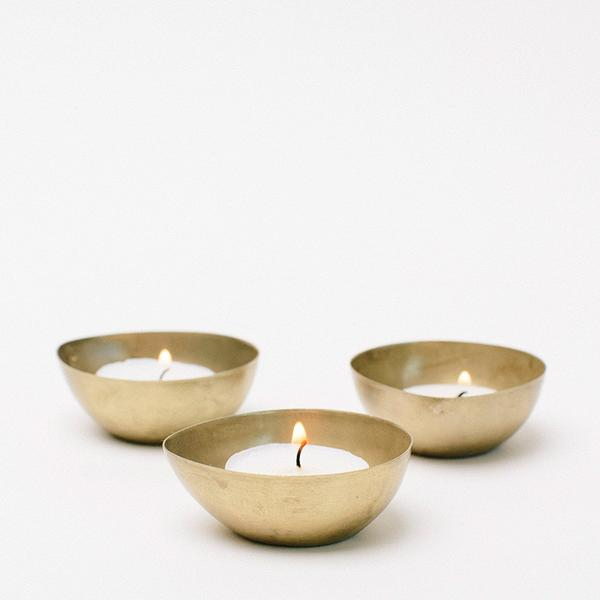 Gold tealight dishes  $2.00 each (includes tealight)