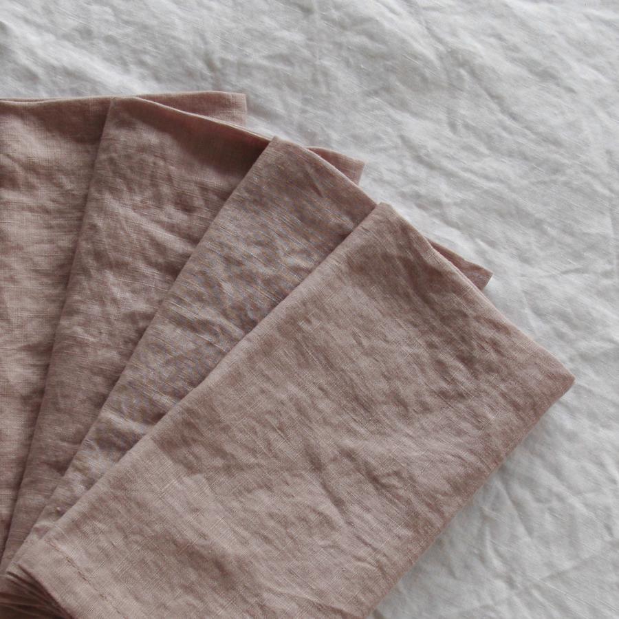 Blush French Linen Napkin  45cm x 45cm  $1.50 each