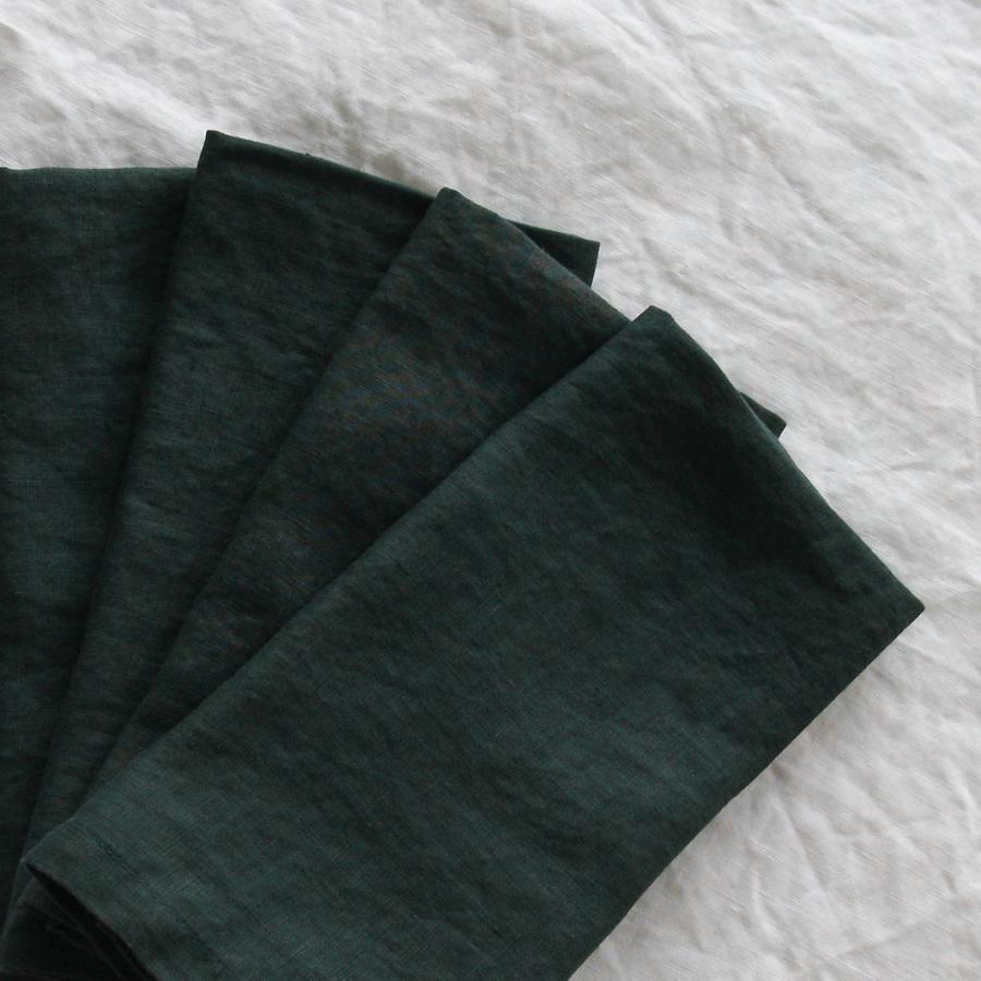 Moss Green French Linen Napkin  45cm x 45cm  $1.50 each