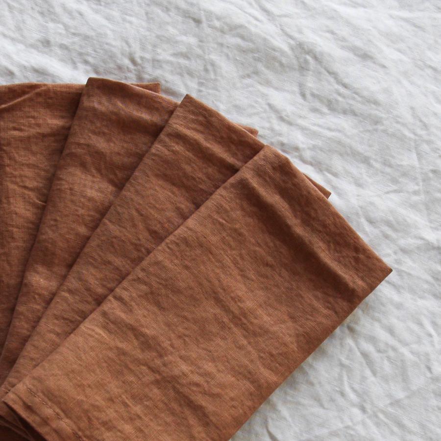 Terracotta French Linen Napkin  45cm x 45cm  $1.50 each