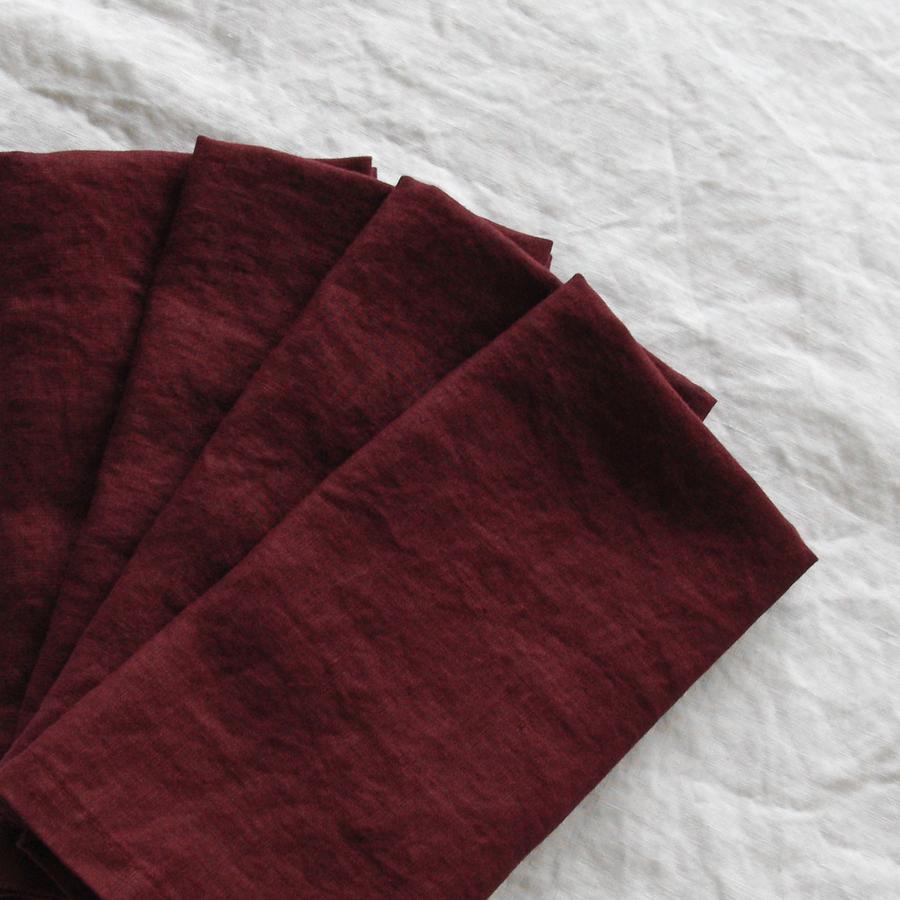 Red Wine French Linen Napkin  45cm x 45cm  $1.50 each