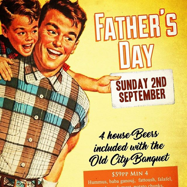 Spoil Dad this Father's Day to a lovely lunch or dinner at Old City Kitchen & Bar... Giving away a lunch for 4 lucky people Father's Day LIKE @ TAG YOUR DAD IN A COMMENT BELOW.. Good Luck