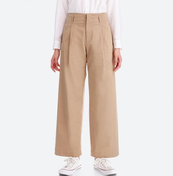 The High Waist Chino Wide Leg Pants -