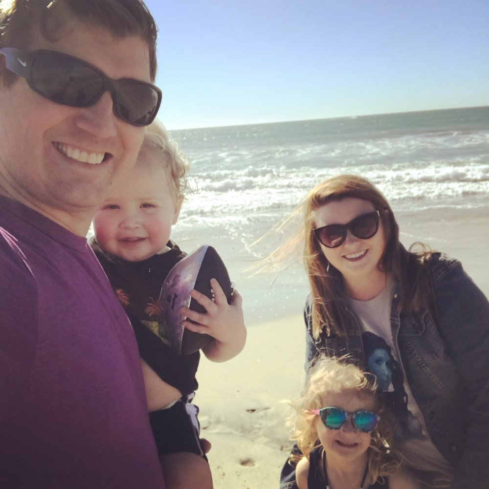 First family trip to the beach! January 25th, 2018
