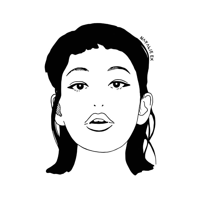 Natalie-Ex-Illustration-Black-and-White-Kiko-Mizuhara-Two.jpg
