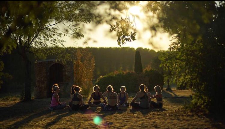 Outdoor meditation yoga retreat Spain