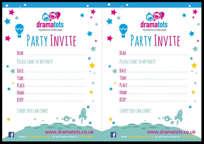 Drama Tots Invite