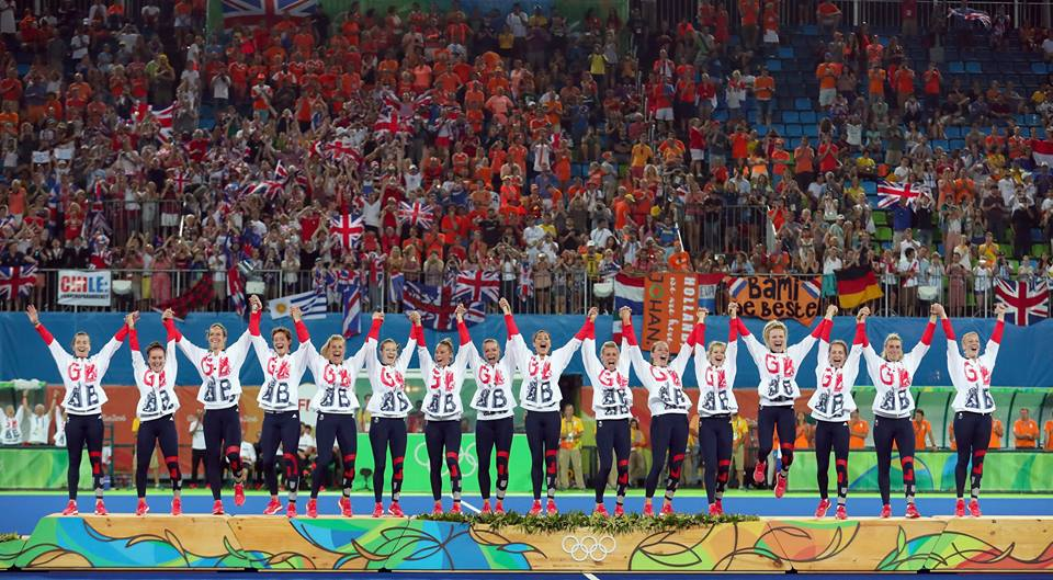 Team GB take Gold in the Women's Hockey