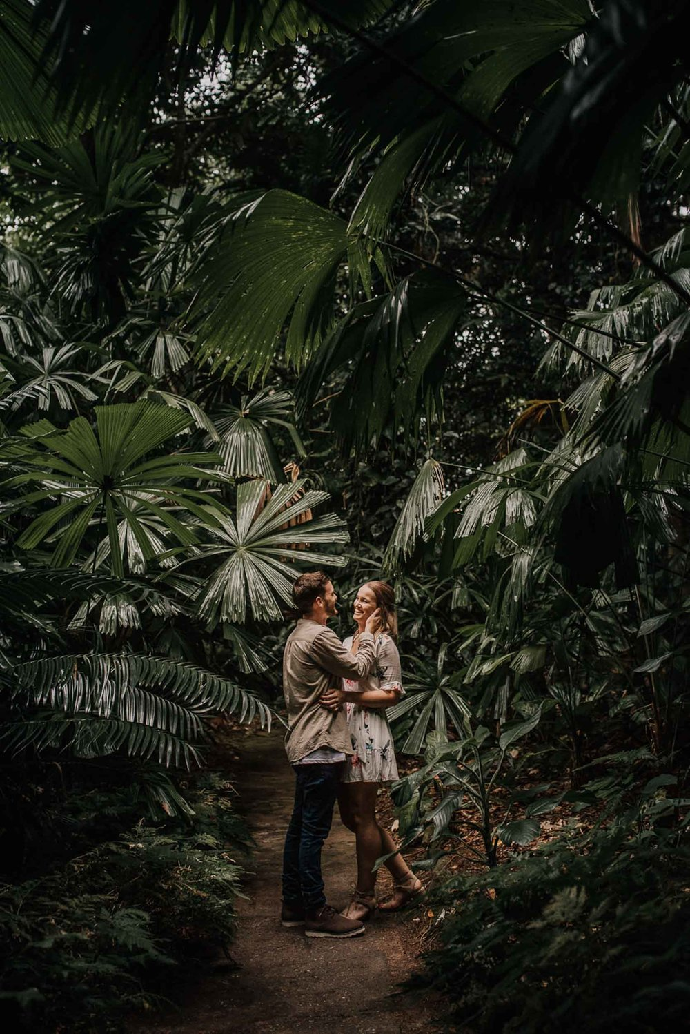 The Raw Photographer - Wedding Photographer - Botanical Gardens Engagement- Couple Session Photos in Cairns - Engaged Price - Rainforest Queensland - photoshoot-6.jpg