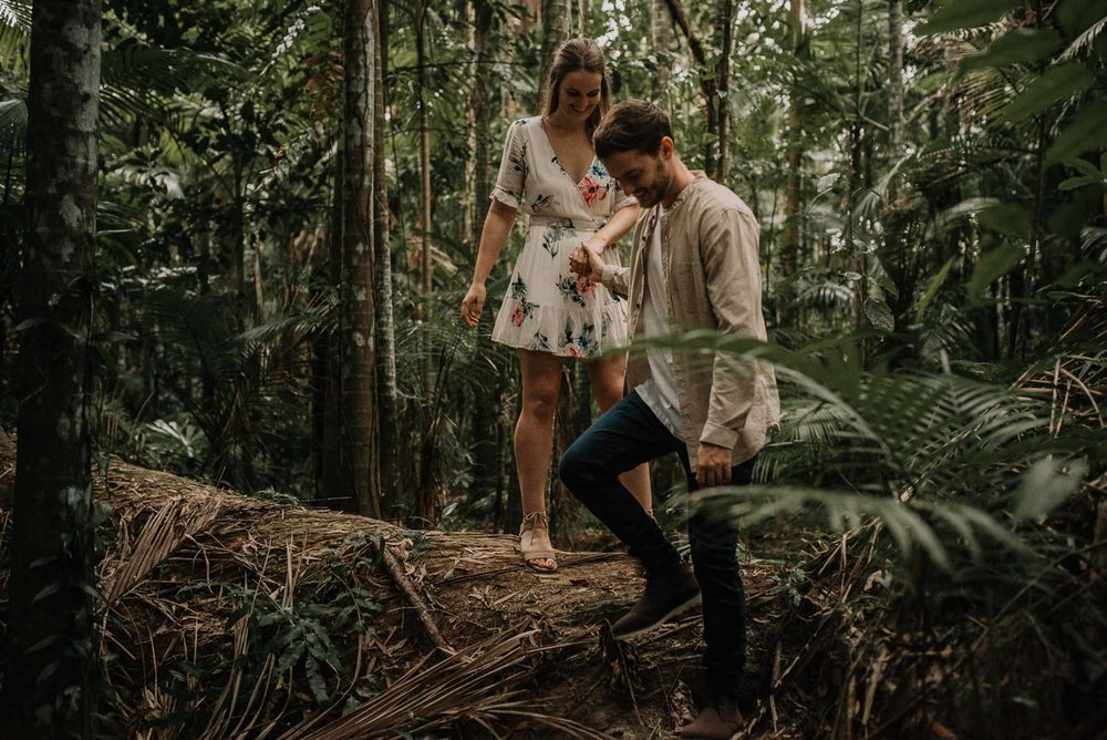 The Raw Photographer - Wedding Photographer - Botanical Gardens Engagement- Couple Session Photos in Cairns - Engaged Price - Rainforest Queensland - photoshoot-16.jpg