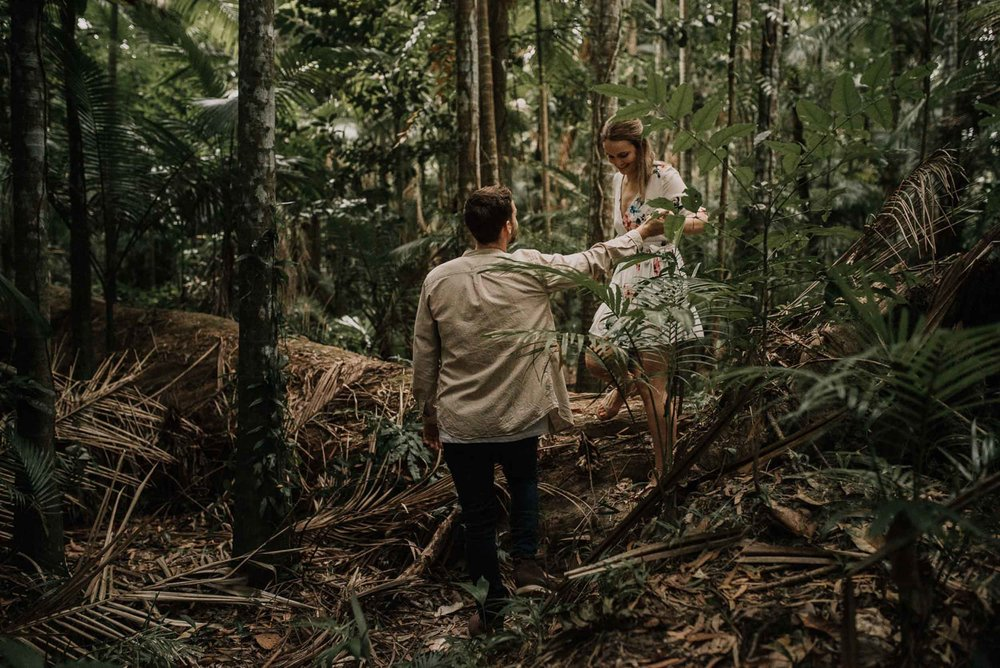 The Raw Photographer - Wedding Photographer - Botanical Gardens Engagement- Couple Session Photos in Cairns - Engaged Price - Rainforest Queensland - photoshoot-17.jpg
