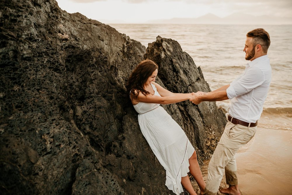 The Raw Photographer - Cairns Wedding Photographer - Engaged Engagement - Beach location - Candid Photography Queensland-31.jpg