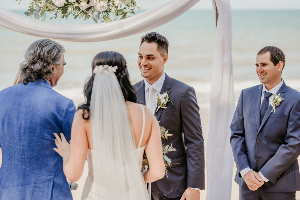 The Raw Photographer - Cairns Wedding Photographer - Beach Palm Cove Ceremony - Dress Irene Costa's Devine Bridal - Queensland-31.jpg