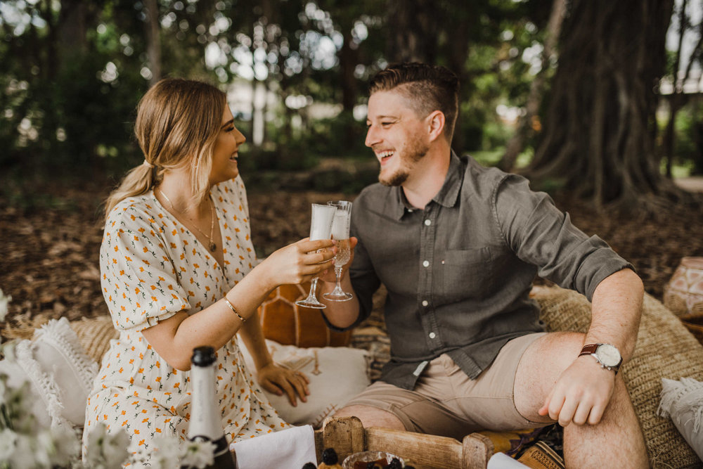 The Raw Photographer - Cairns Wedding Photographer - Beach Engagement Shoot - Candid Picnic-5.jpg