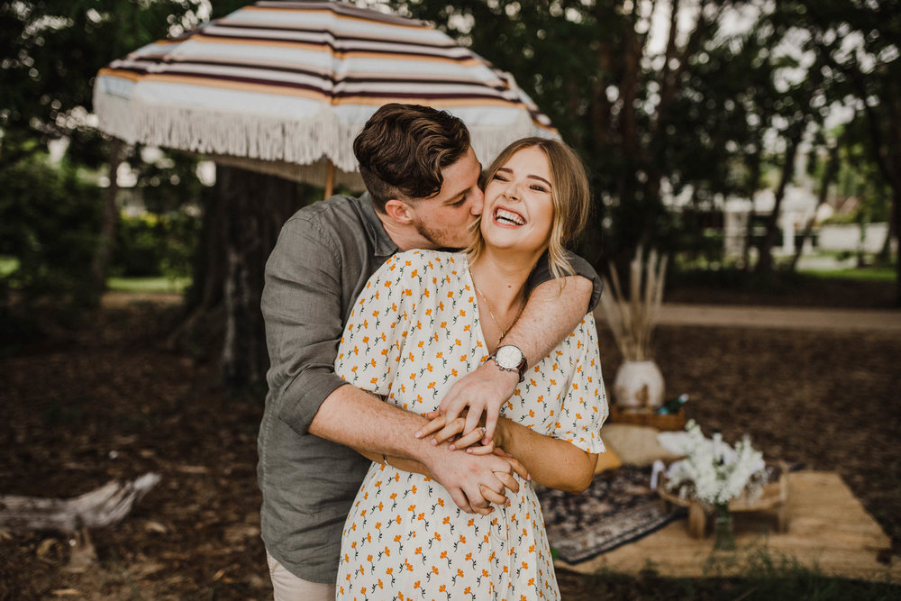 The Raw Photographer - Cairns Wedding Photographer - Beach Engagement Shoot - Candid Picnic-16.jpg