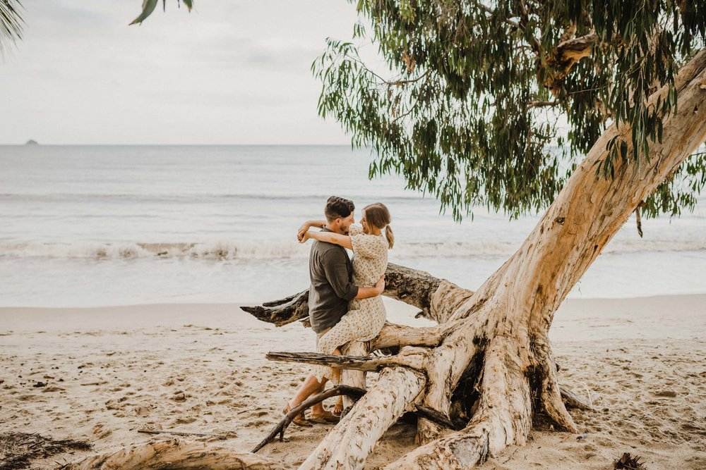 The Raw Photographer - Cairns Wedding Photographer - Beach Engagement Shoot - Candid Picnic-19.jpg