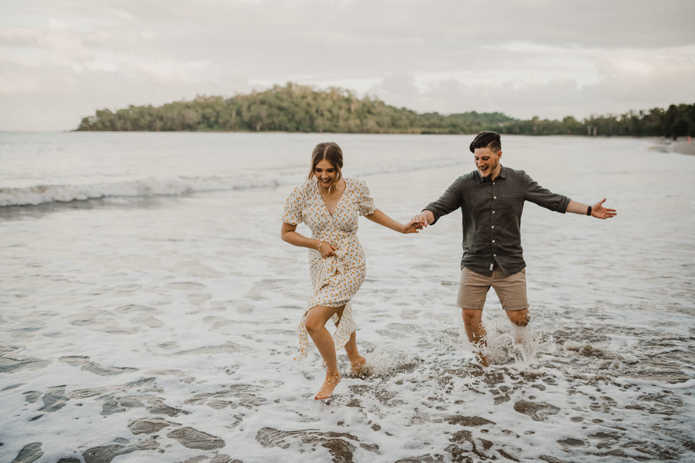 The Raw Photographer - Cairns Wedding Photographer - Beach Engagement Shoot - Candid Picnic-27.jpg
