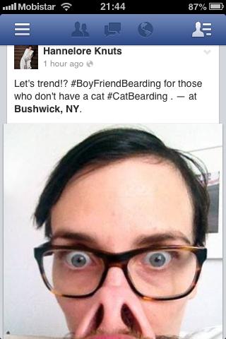 Hannelore Knuts Boyfriend Bearding