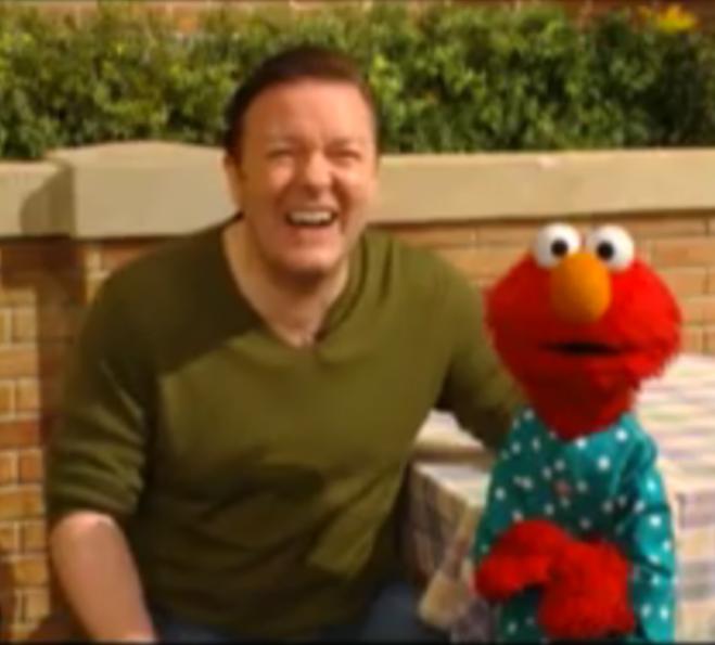 Elmo Vs Ricky Gervais Elmo Wants This Tape Knotoryus