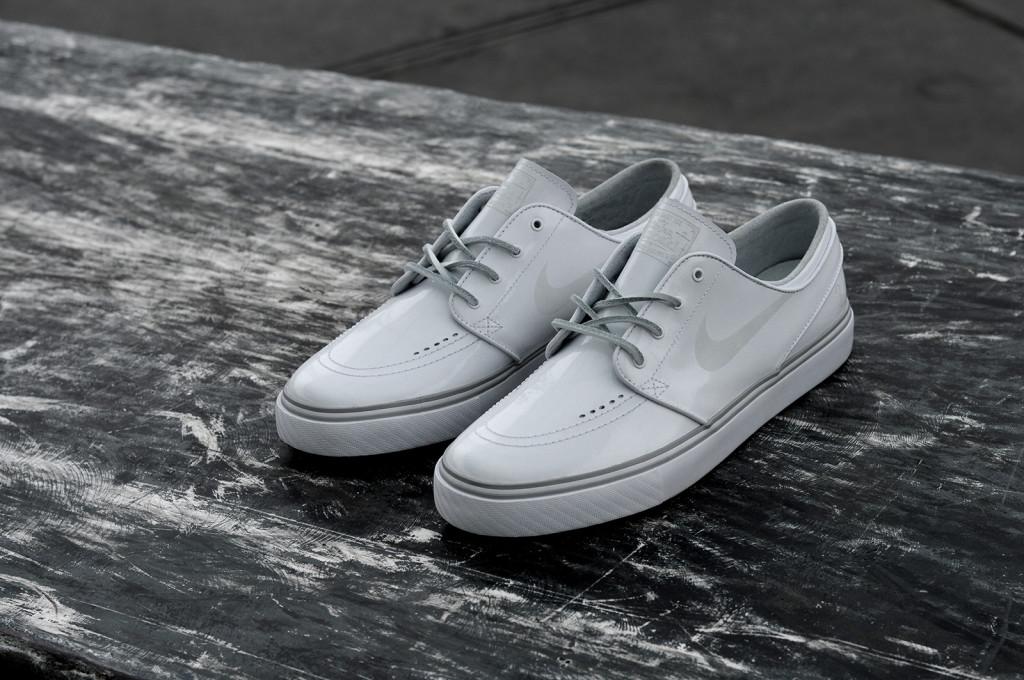 timeless design c2d92 2e39d Lockwood X Nike Sb Stefan Janoski   Limited White Patent Leather Pack