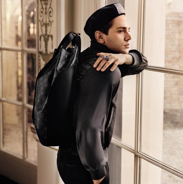 Xavier Dolan for  Louis Vuitton AW16 by  Alasdair McLellan