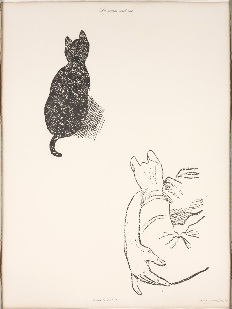 'The Mouse Writes Rat (At the Author's Expense)' by Marcel Broodthaers (1974)