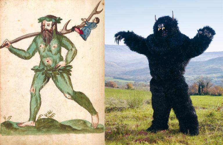 Wildeman, Schembartbuch, Neurenberg (circa 1590) – Charles Fréger, Orso di Jelsi, Italy, (2010-2011)