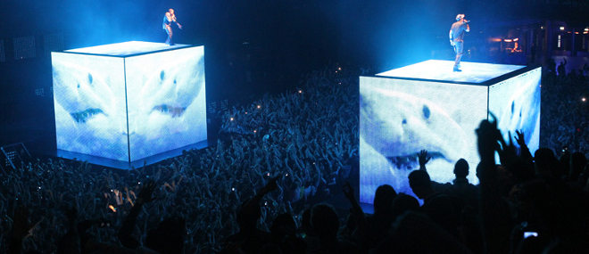 'Watch The Throne' tour (2011) Kanye West & JAY-Z creative direction: Virgil Abloh & Donda