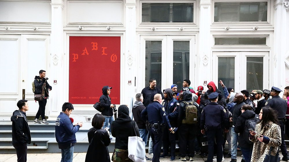 Kanye West 'Pablo' pop up shops and merchandise - creative direction: Virgil Abloh & Donda