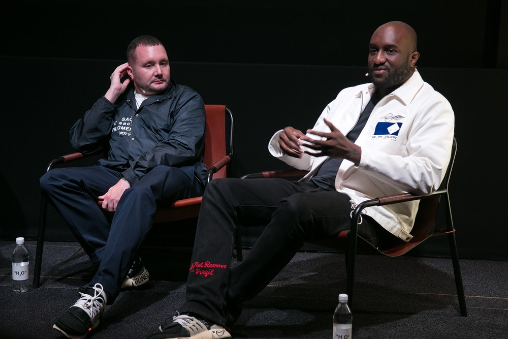 Kim Jones (wearing Virgil Abloh x Nike) - Image :  Hypebeast