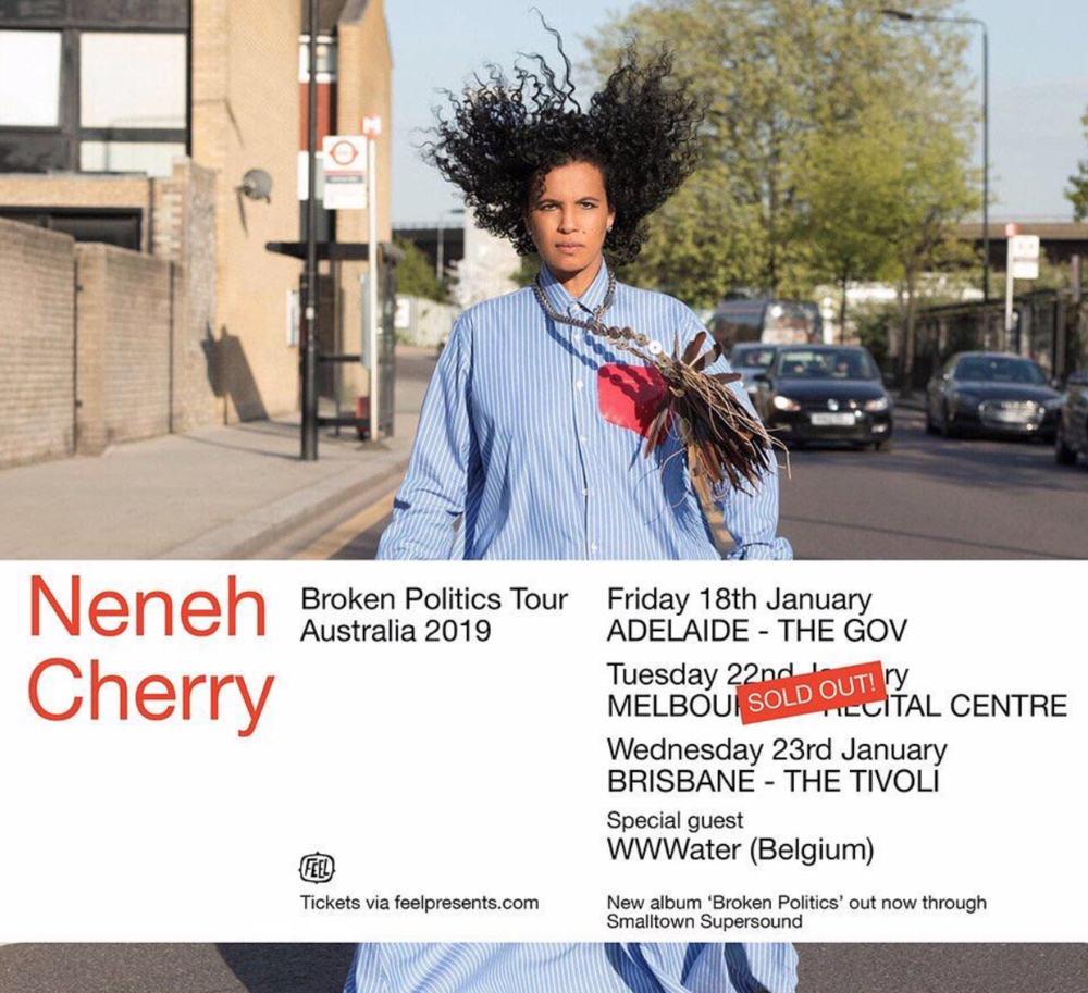 Neneh Cherry + support by Charlotte Adigery's WWWater tour poster.