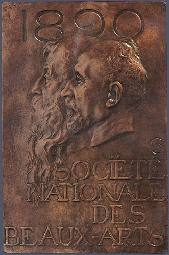 11. Alexandre Charpentier,  Société Nationale des Beaux Arts ,  1890 . Cast bronze. 252 x 165 mm. Private Collection, U.S.A.