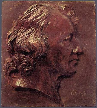2. Pierre-Jean Pierre-Jean David D'Angers,  Pierre-François, Comte de Réal.  Original wax relief on slate. 135 x 122 mm. Private Collection, U.S.A.