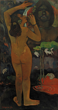 Fig. 1 – Paul Gauguin, Hina Te Fatou (The Moon and the Earth), 1893, oil on burlap, 45 x 24 ½ in. (114.3 x 62.2 cm), The Museum of Modern Art, New York