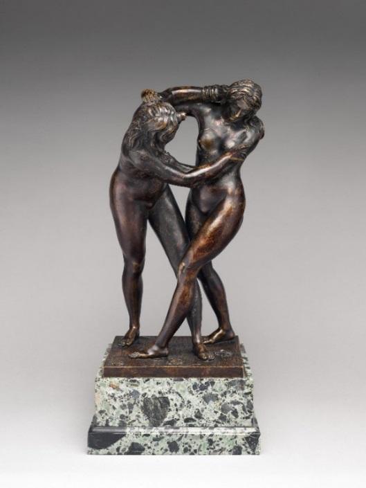 Fig. 2. Attributed to Ferdinando Tacca, Two Women Wrestling, bronze, last quarter 17th century, The Metropolitan Museum of Art, New York, NY.