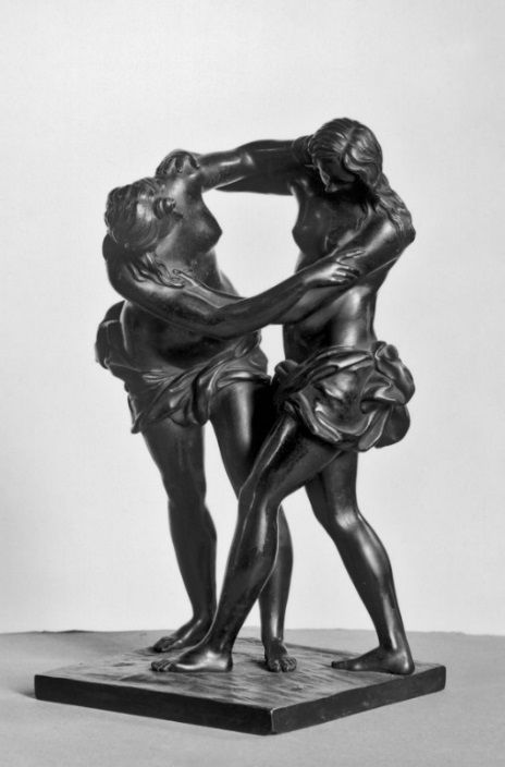 Fig. 3. Attributed to Ferdinando Tacca, Two Women Wrestling, bronze, last quarter 17th century, The Walters Art Museum, Baltimore, MD.