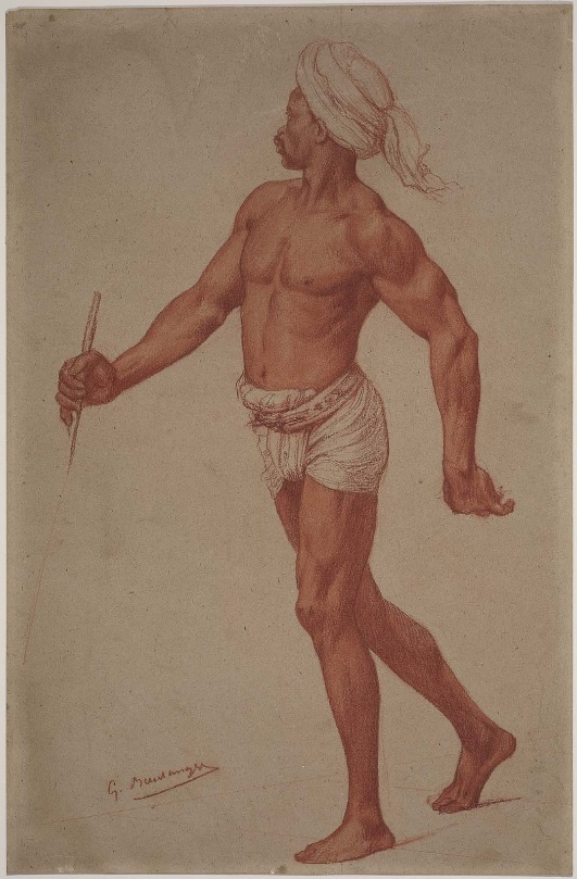 Fig. 2 – Gustave Boulanger, Study of a Man in Turban and Loincloth, Museum of Fine Arts, Boston.