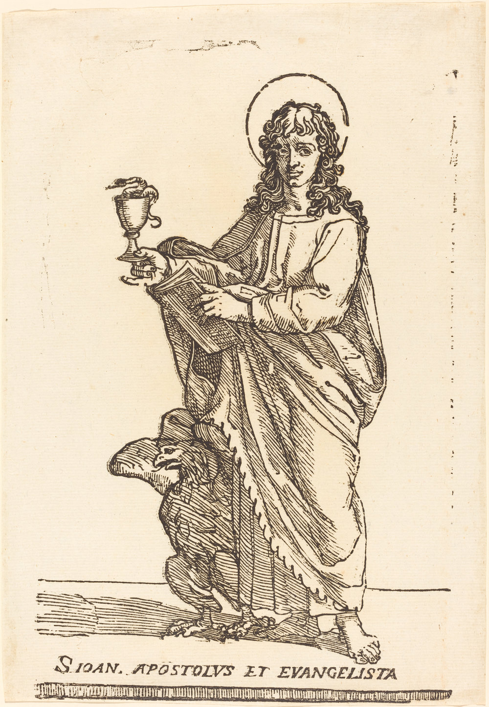 Fig. 1. Jacques Stella,  Saint John the Evangelist , woodcut, National Gallery of Art, Washington, DC