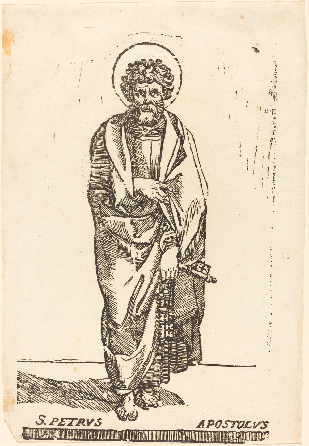 Fig. 3. Jacques Stella,  Saint Peter , woodcut, National Gallery of Art, Washington, DC