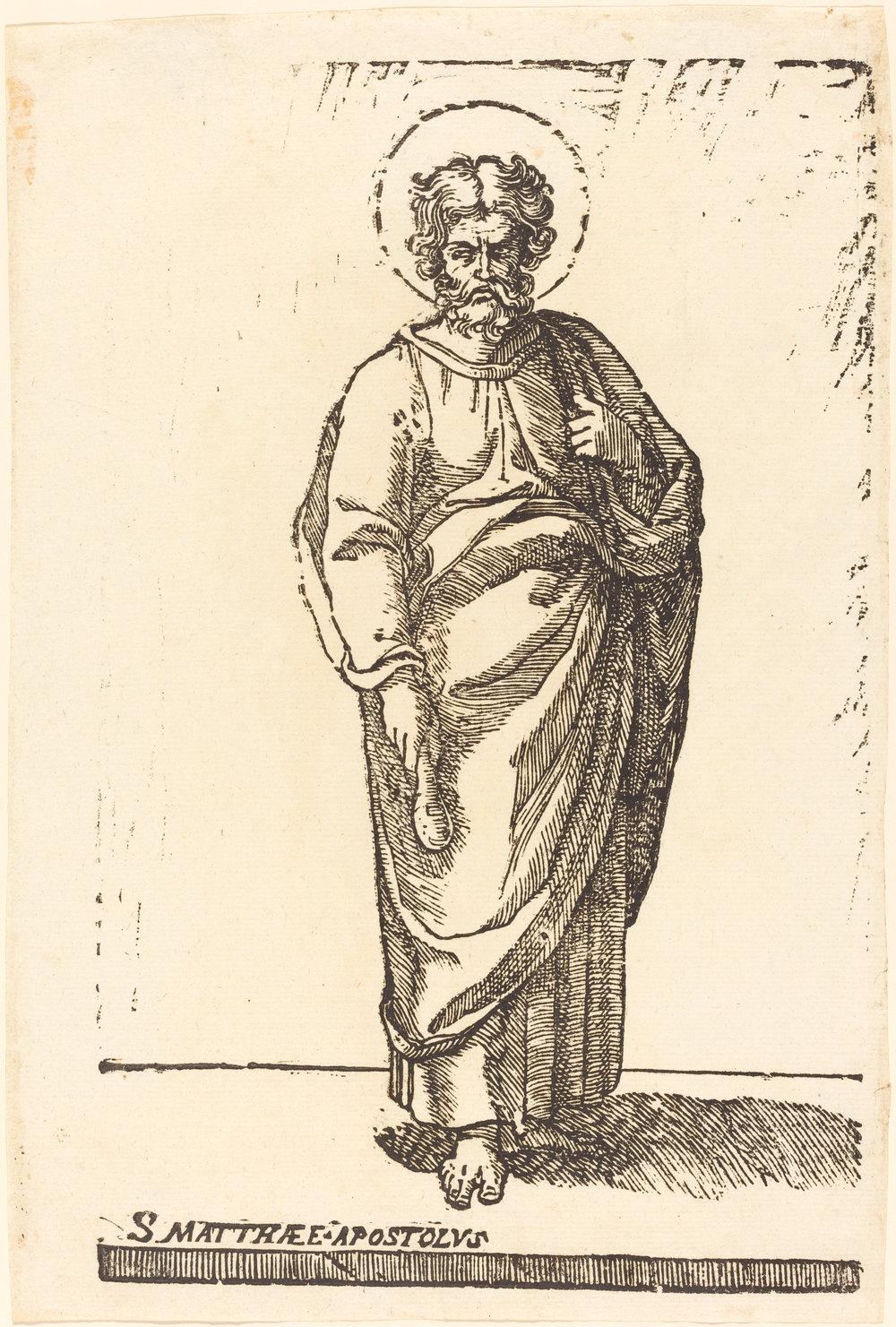 Fig. 4. Jacques Stella,  Saint Matthew , woodcut, National Gallery of Art, Washington, DC